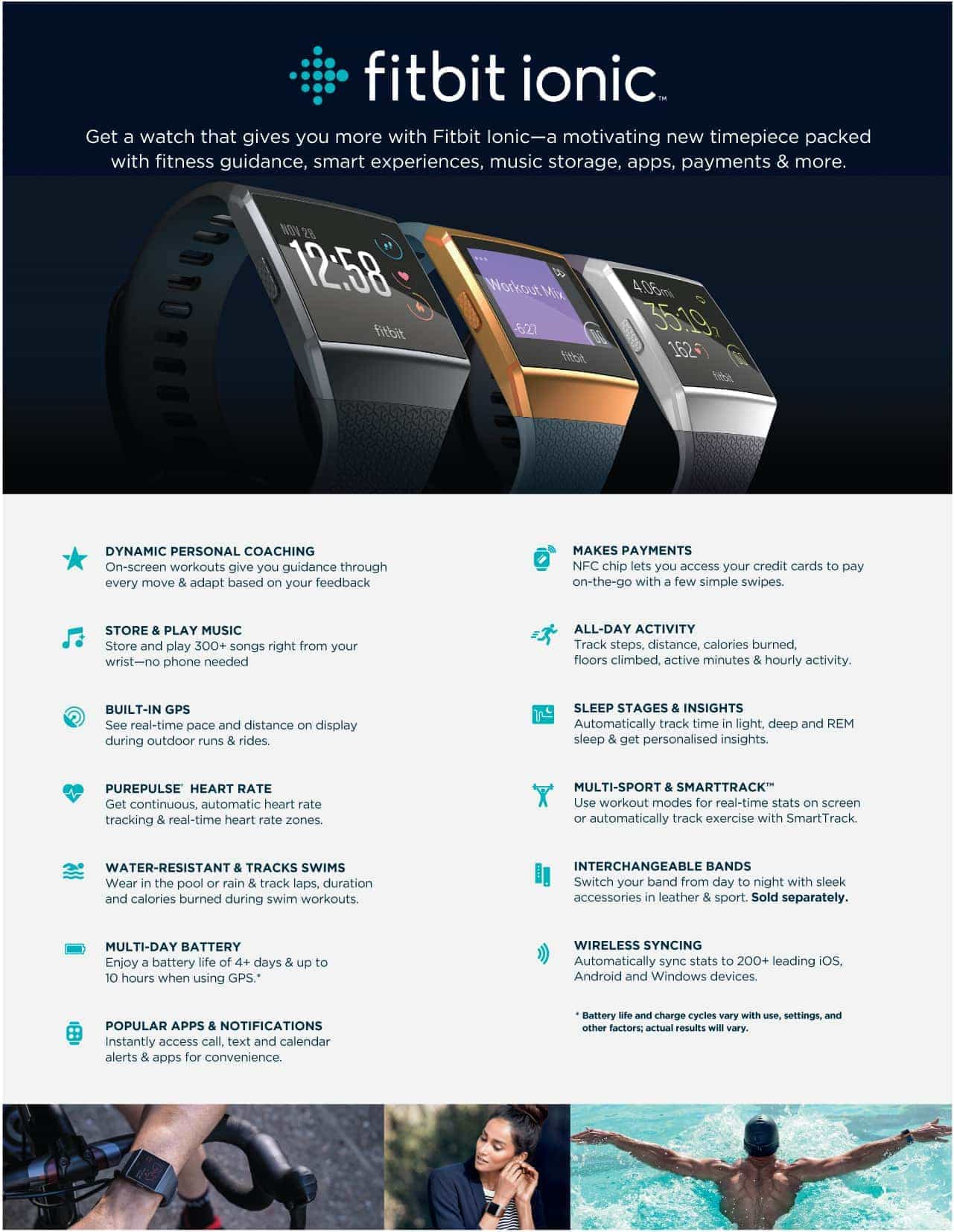 Fitbit Ionic Info Specifications Page 1