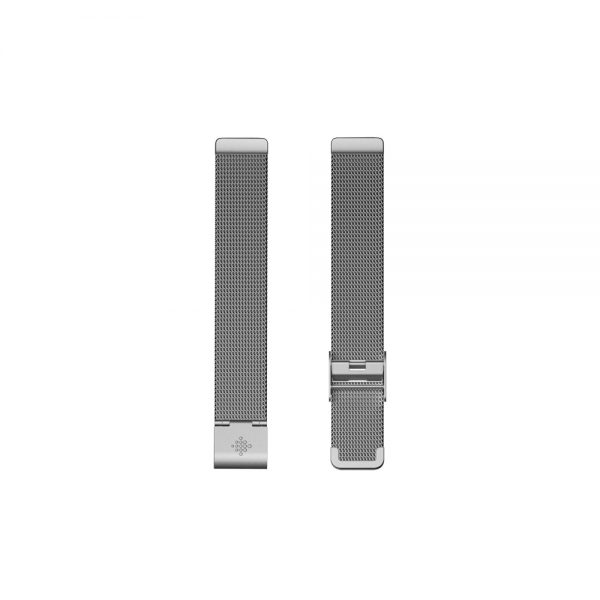 Fitbit Inspire Flat Metal Mesh Silver Band - Singapore