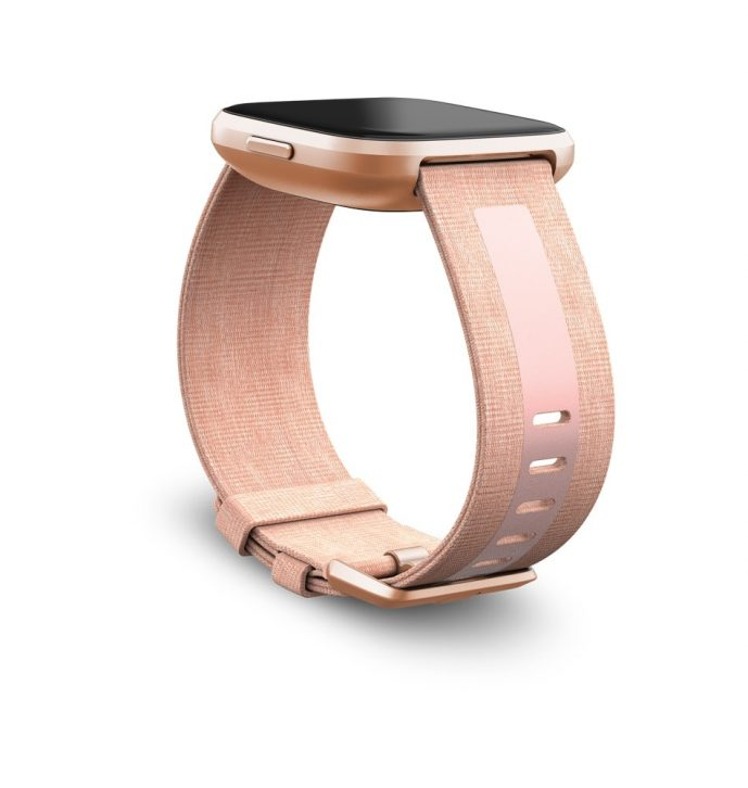 Fitbit_Versa2_Dramatic_Woven_Reflective_Pink_Copper_Rose_Band